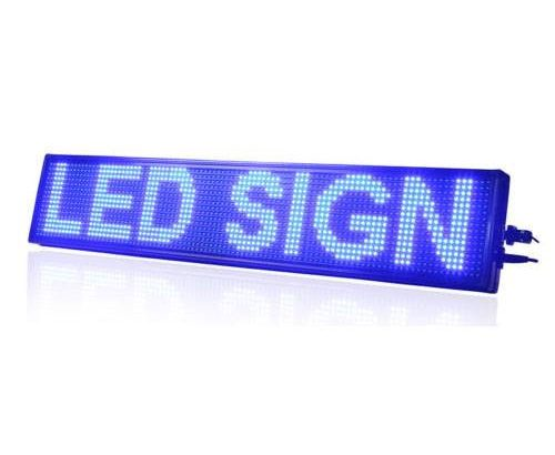 Blue Led Scrolling Sign
