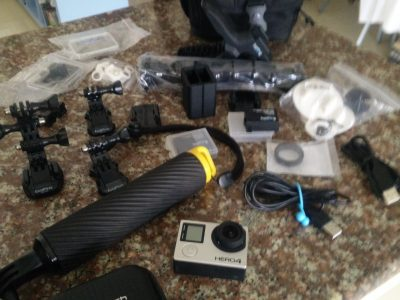 GO-PRO HERO 4 BLACK H/D CAMERA WITH ACCESSORIES