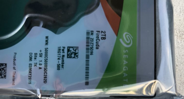 (2) NEW Seagate FireCuda 2 TB Hybrid Gaming Hard drives(ST2000LX001)