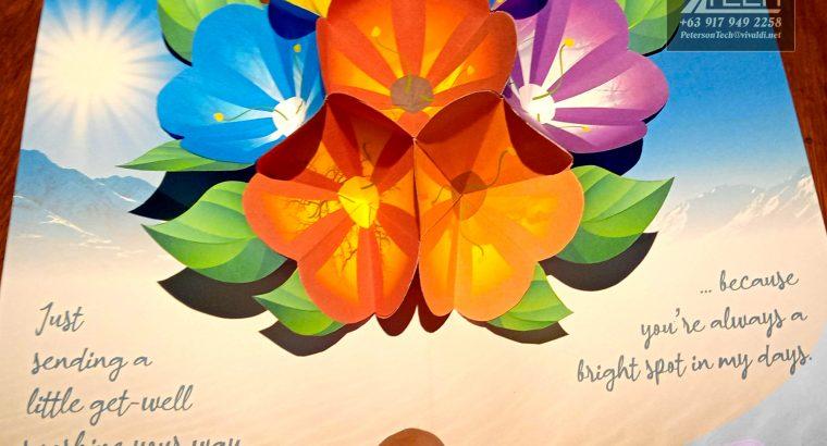 Get Well Sunshine Flower Popup Card