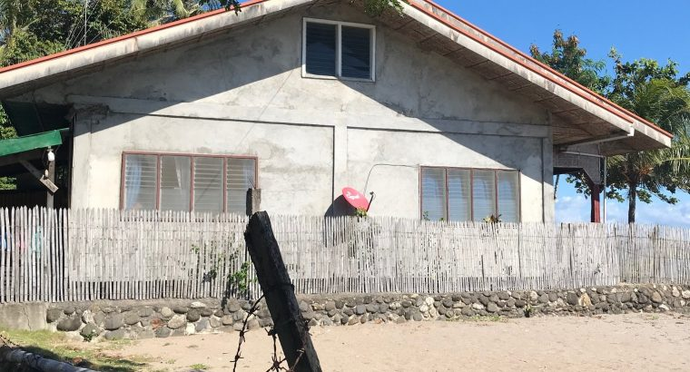 BEACH HOUSE AND LOT FOR SALE IN ZAMBOANGUITA