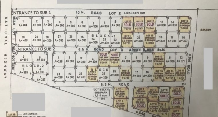SUBDIVISION LOTS FOR SALE IN BAIS CITY
