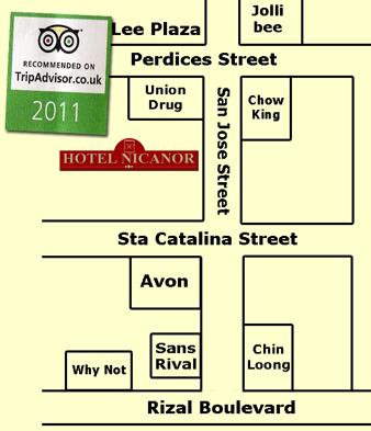 Hotel Nicanor Map