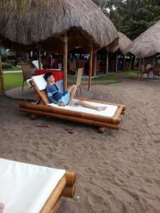 Relaxing in the resort