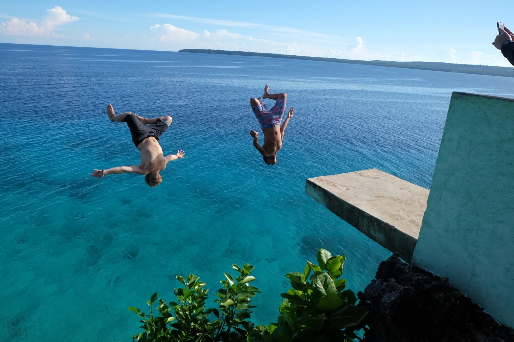 save the beach for last end your trip with a large dose of adrenaline rush by cliff diving