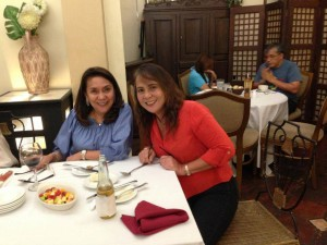 The owner Mrs. Yolanda Hilado and her best friend Chona Villegas a regular customer of Don Atilano