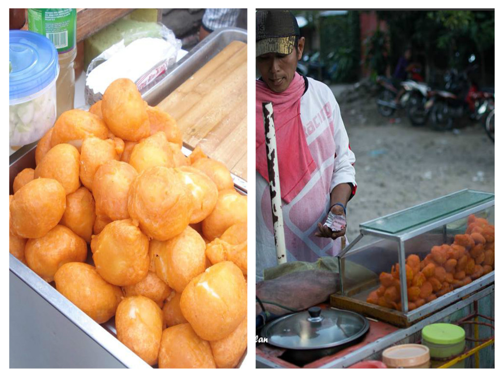 Deep fried quail eggs in Dumaguete City